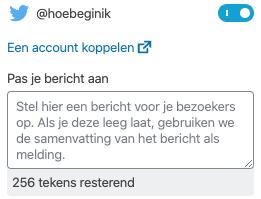 Automatisch posten op Twitter