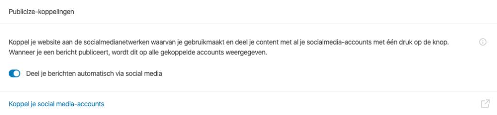 JetPack koppeling met Twitter