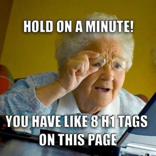 H1 tag meme